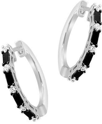 ebdb5bb6a69982 Bloomingdale's Black & White Diamond Hoop Earrings in 14K White Gold - 100%  Exclusive