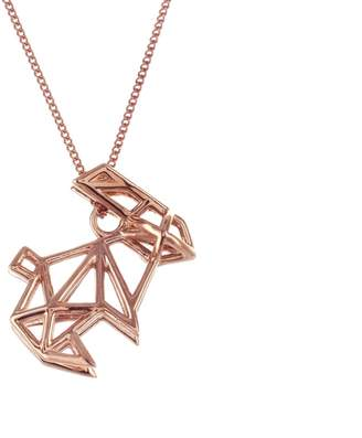 Origami Jewellery Frame Rabbit Necklace Rose Gold