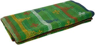 One Kings Lane Vintage Aari Verde Tribal Coverlet