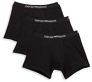 Emporio Armani Men's 3-Pack Cotton Boxer Briefs
