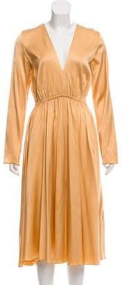 Giada Forte Long Sleeve Midi Dress