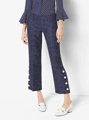 Michael Kors Denim Wool-Jacquard Pants