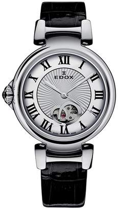 Edox Watches Women's LaPassion Open Heart Swiss Automatic Watch, 33mm