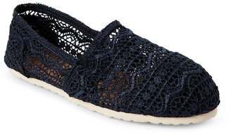 esprit Navy Toso Aztec Crochet Slip Ons $39 thestylecure.com