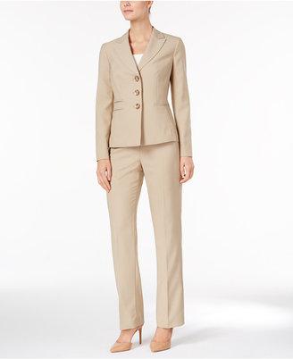Le Suit Tonal Pinstripe Three-Button Pantsuit $200 thestylecure.com