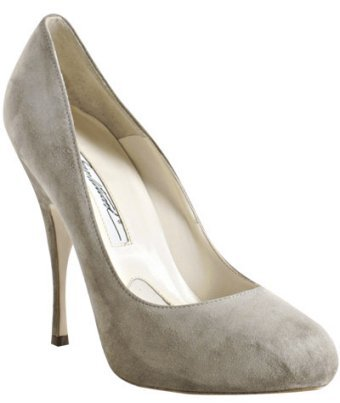Brian Atwood grey suede 'Tonya' pumps