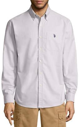 U.S. Polo Assn. USPA Stretch Oxford Sportshirt Long Sleeve Button-Front Shirt