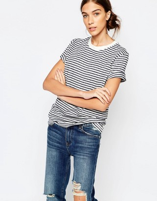 Selected Striped T-Shirt in Navy $23 thestylecure.com