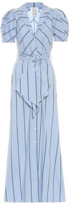 Rosie Assoulin Striped cotton-blend maxi dress