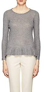 Barneys New York WOMEN'S CASHMERE PEPLUM SWEATER-GRAY SIZE XL