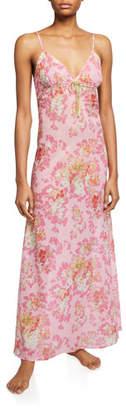 La Costa Del Algodon Saskia Long Floral-Print Nightgown