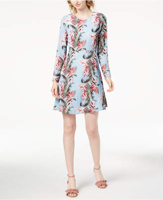 Maison Jules Retro Floral-Print Fit & Flare Dress, Created for Macy's