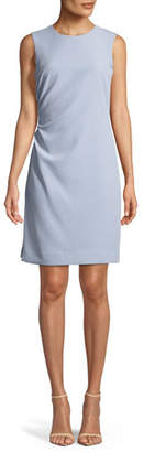 Milly Sherry Sleeveless Ruched Mini Dress