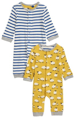 Boden Mini 2-Pack Cotton Rompers
