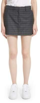 Ashley Williams Executive Plaid Wool Miniskirt