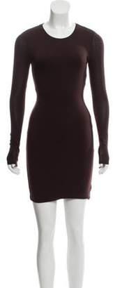 Kimberly Ovitz Long Sleeve Mini Dress brown Long Sleeve Mini Dress