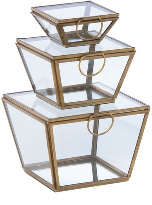 Shiraleah Set Pf 3 Wallace Square Jewelry Box