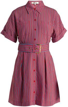 Diane von Furstenberg Striped patch pocket shirtdress