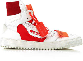 Off-White Off-Court Tumbled High-Top Sneakers