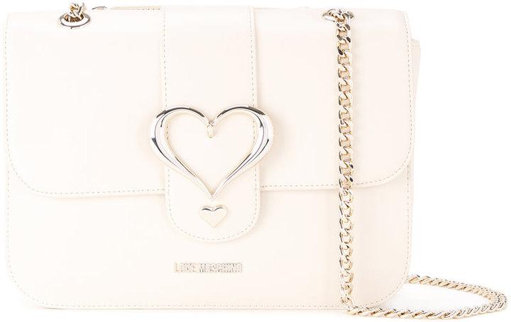 Love MoschinoLove Moschino heart buckle shoulder bag