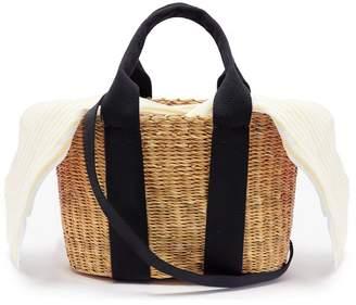 Muun Caba mini woven straw tote