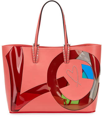 Christian Louboutin Cabata Small Love Calf Paris Tote Bag