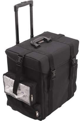 Sunrise La Croce Soft Sided Rolling Makeup Case Professional Nail Travel Wheel Organizer