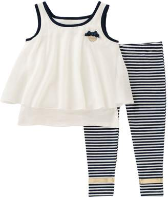 Juicy Couture Bow Tank Top & Striped Leggings