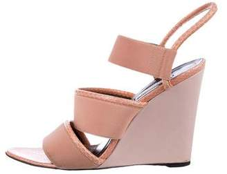 Balenciaga Snakeskin Wedge Sandals