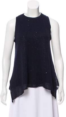 Brunello Cucinelli Embellished Rib Knit Top