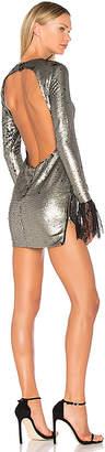 VATANIKA Backless Lace-Trimmed Mini Dress