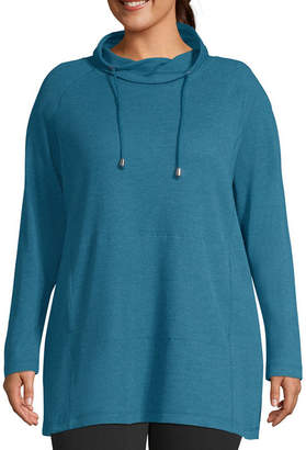 ST. JOHN'S BAY SJB ACTIVE Active Thermal Hoodie Tunic - Plus
