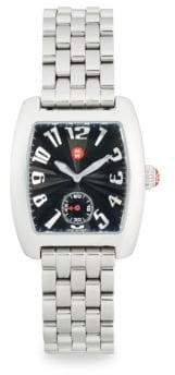 Michele Urban Mini Rectangular Stainless Steel Bracelet Watch