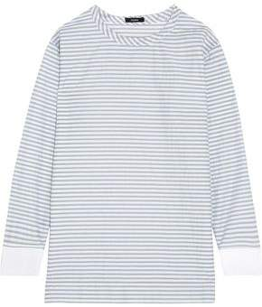 Bassike Striped Cotton-Blend Top