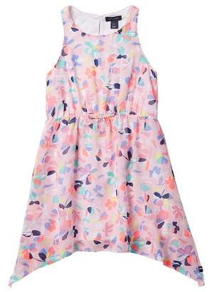 Tommy Hilfiger Printed Chiffon Dress with Belt (Toddler Girls)