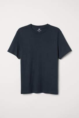H&M Crew-neck T-shirt Regular fit - Blue