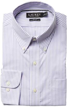 Lauren Ralph Lauren Slim Fit Non Iron Pinpoint Stretch Stripe Button Down Collar Dress Shirt Men's Long Sleeve Button Up