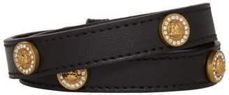 Versace Black Icon Stud Wrap Bracelet