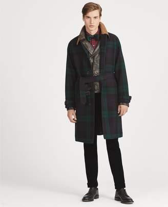Ralph Lauren Tartan Wool Balmacaan Topcoat