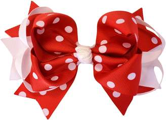 "Funny Girl Designs 5"" Boutique Ring Hair Bow"