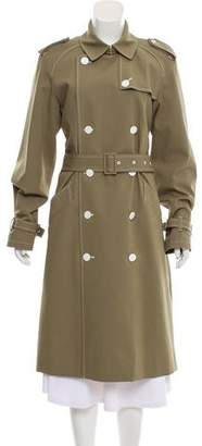 Diane von Furstenberg Notch-Lapel Trench Coat