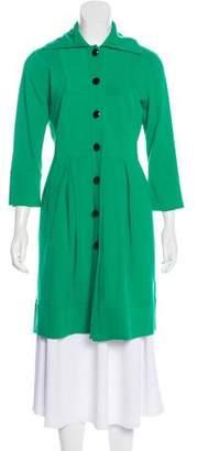 Diane von Furstenberg Button-Up Knee-Length Coat