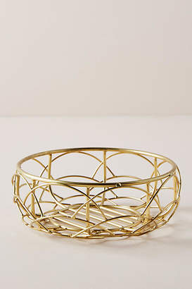 Anthropologie Scalloped Berry Basket