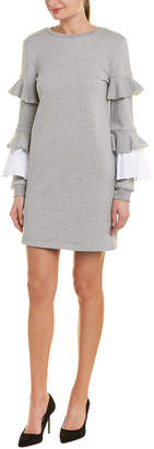 ENGLISH FACTORY Pleated Sweaterdress