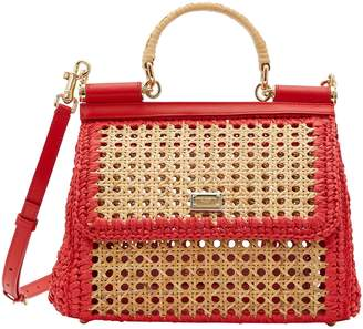 Dolce & Gabbana Sicily raffia shoulder bag