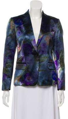 Dries Van Noten Printed Satin Blazer