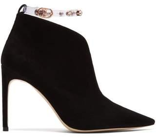 67c6d931c25 Sophia Webster Dina Embellished Plexi Strap Suede Ankle Boots - Womens -  Black Multi