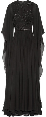 Elie Saab - Embellished Tulle And Silk-chiffon Gown - Black $6,400 thestylecure.com