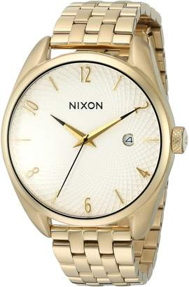 Nixon Women's 'Bullet, White' Quartz Stainless Steel Watch, Color Gold-Toned (Model: A418-508-00)