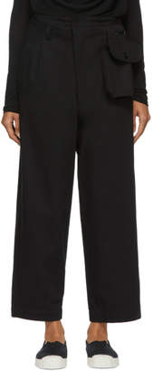Y's Ys Black Detachable Pouch Trousers